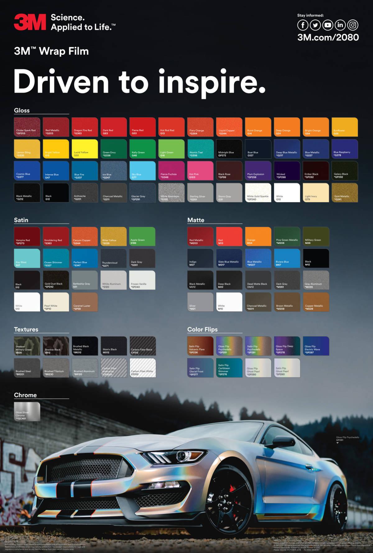 Perfectcolor Car Wrap - wzornik kolorów